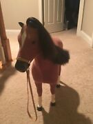 American Girl Doll Brown Horse For The Dolls To Ride On, Used But Still Good