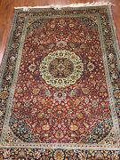 4and039 X 5and0399 Multi Color Silk Persian Oriental Rug
