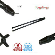 New 3/8 Straight Jaw V Bit Authentic Blacksmithing Forge Tools Ball End Reins