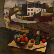 40wx40h Knife And Fruit In Front Of Window By Diego Rivera - Choices Of Canvas