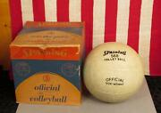 Vintage 1960s Spalding Official Size Volleyball Model 568 In Original Box Nice