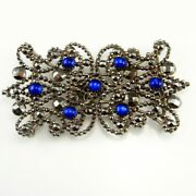 Antique Blue Cabochon Cut Steel Buckle Sapphire Paste 18th To 19th Century