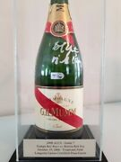 Mlb Tampa Bay Rays 2008 Alcs / World Series Signed Game Used Champagne Bottle