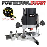 Trend T5elb 1000w 1/4 Variable Speed Router 110volt Free 5m Stanley Tape