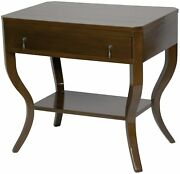 30 Set Of Two Side Table Night Stand Birch Distressed Brown 2842