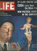 Sue Ane Langdon Signed 1962 Life Magazine Guide For Married Man Roustabout Elvis