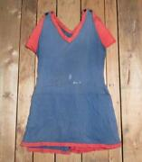 Vintage Womens Antique Swimsuit Cotton Knit Bathing Suit Early 1900s Beach Nice