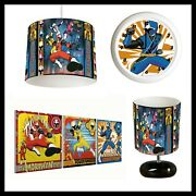 Power Rangers Dino Charge - Bedroom Bundle Lampshade Lamp Clock Canvases