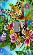 Light Switch Plate Outlet Covers Home Decor Colorful Butterfly Butterflies 3