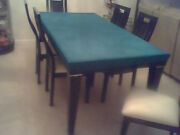 Poker Table Cover- In Speed Lite Felt Style - Kitchen Rectangle Table + Pad Fs