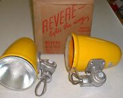 1 Nos 1954 Shell Oil Porcelain Sign Lights Yellow Industrial Gas Station Vintage