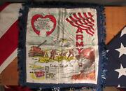 Vintage Wwii Us Army Camp Fort Pickettva. Forget Me Not Sweetheart Handkerchief