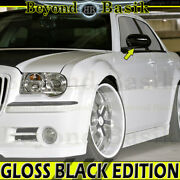 For 2005-2010 Chrysler 300c 2006-2010 Charger Gloss Black Mirror Covers Overlays