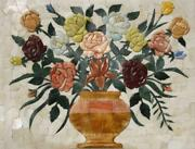 Floral - 3d Rose Mosaic Flowers And Trees Mosaic Tile