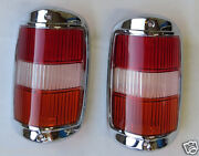 Early Style Amber Tail Light Lens With Chrome Fits Mercedes W121 190sl 190