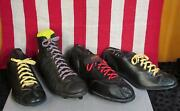 Vintage Lot Of Single 1950s Leather Football And Baseball Shoes Cleats Unmatched