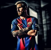 242 Lionel Messi - Barcelona Football Soccer Top Player 14x14 Poster