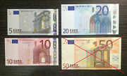 Set Of Unc Mint Euro 888 Notes Rare Chinese Lucky Collection 20 10 5 Euros Note