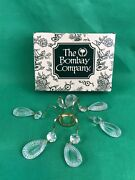 The Bombay Company Crystal Brass Bobeche Vintage Set Of 2 Collectibles