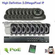 H.265 16ch Network 5mp Nvr Sony Cmos 2592p Ip Audio Onvif Camera Security System