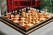 Avant Garde Series Luxury Chess Pieces - 4.4 King - Natural Boxwood And Ebonized