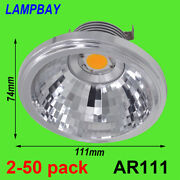 Led Ar111 Bulb 7w 10w G53 12v 110v 220v Dimmable Spot Light Qr111 Es111 Lamp