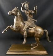 Bronze Greek Male Warrior After Greek 2nd Cent Bce Sculpture By Tommasi Napoli