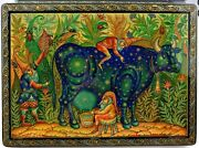 Russian Lacquer Box Authentic Mstera Miniature 100 Hand Work Early Molodkin