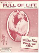 Theme From Full Of Life Sheet Music-1957-new-mint-judy Holliday/richard Conte