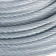 3/8 Galvanized Aircraft Cable 7x19 2000 Feet + 100x 3/8 Malleable Clips