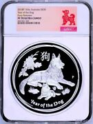 2018 Australia Lunar Year Of The Dog 1 Kilo Proof Silver 30 Coin Ngc Pf 70