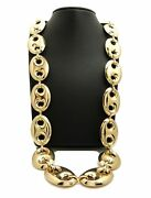 Men Rapper's Hip Hop Style Gold Tone Chunky Thick 27mm 30 Marina Chain Necklace