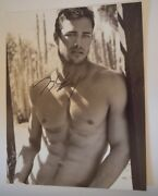 Taylor Kinney Signed Autographed 11x14 Photo Chicago Fire Shirtless Pose Coa Vd