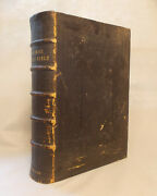 Huge Leather Antique Imperial Family Bible Blackie And Son Many Steel Engravings