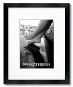 Gallery Black Wood Picture Frames With Single White Mats And Clear Glass