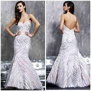 Jovani Wedding/prom/evening Marmaid White/nude Strapless Gown 789 Autentic 199