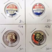 Alfred Smith For President Presidential Campaign Political Pinback Button Lot