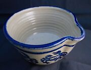 Studio Pottery Handmade Bowl With Spout Crab Design; Signed