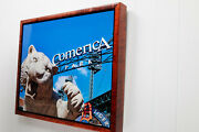 Metal Print Of Comerica Park Detroit Tigers Framed In Solid Curly Maple.