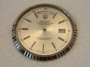 Rolex Day-date Presidential Rapid- Change Dial And White Gold Bezel
