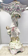 Dresden Kpm Porcelain Figural Compote With Reticulated Basket Circa 1880