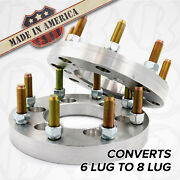 X2 Usa | Dodge 6 To 8 Lug Wheel Adapters / 1 Spacers | Truck Suv 6x4.5 To 8x6.5