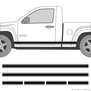 Rocker Panel Racing Stripes 3m Vinyl Decal Kit For Chevy Colorado And Gmc Canyon