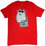 Pusheen The Cat Pusheen Boombox T-shirt Red Nwt Licensed And Official