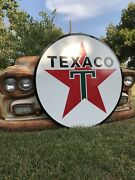 Antique Vintage Old Style Texaco Gas Oil Sign 40