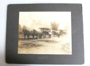 7x9 Photograph Of Fruit Vegetable Carriages W/ Horses - Mckees Rocks Pa