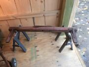 Antique Primitive Farm Wagon Buggy Or Cart Salvaged Part, Ox / Horse Handmade