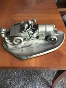 Andnbspwmf Antique German Made Pewter Race Car 16 In Lenght 9 Wide 7 Tall