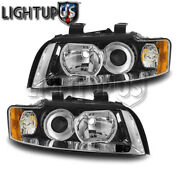 Left Right Sides Pair Headlights For 2002-2005 Audi A4 Quattro S4 Gen2