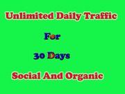 Targeted Social Web Traffic For 30 Days From Main Social Websites.